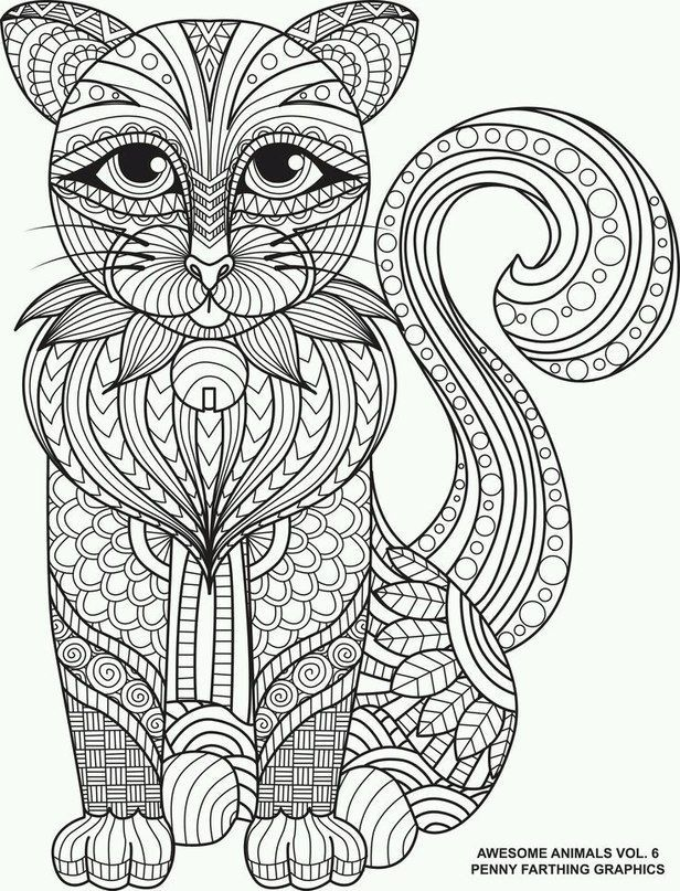 Animal Coloring Pages For Adults Printable