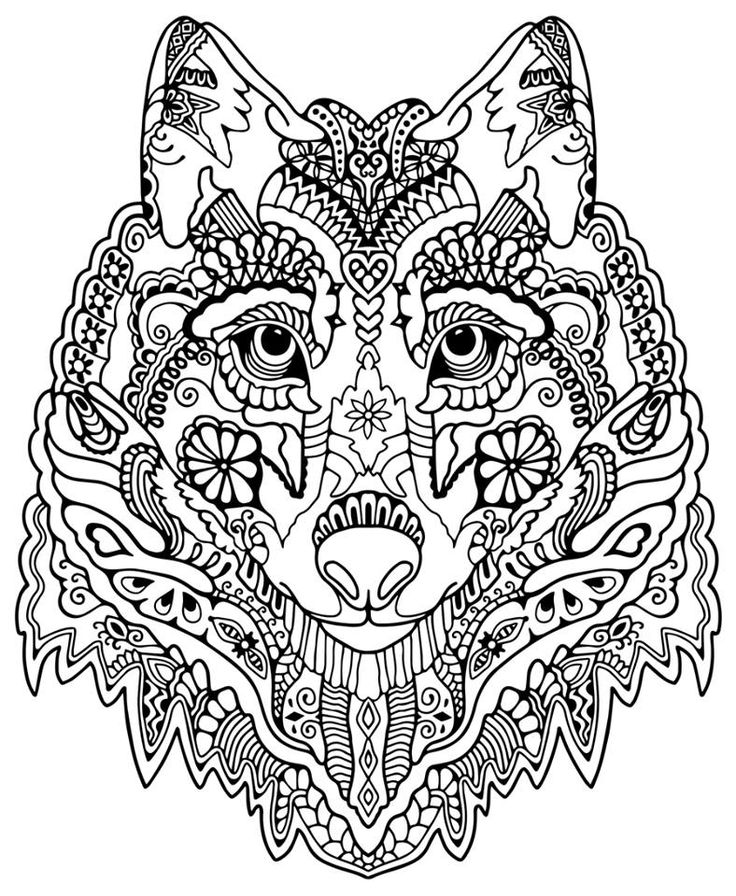 736x896 Detailed Animal Coloring Pages