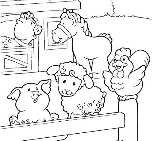 538x459 Free Farm Animal Coloring Pages Coloring Pages Of A Farm Farm