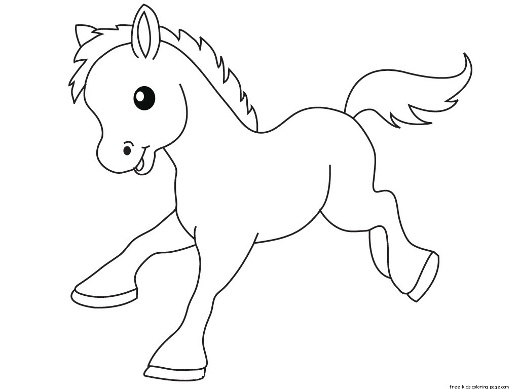 1024x768 Print Out Pony Baby Animals Coloring Pages