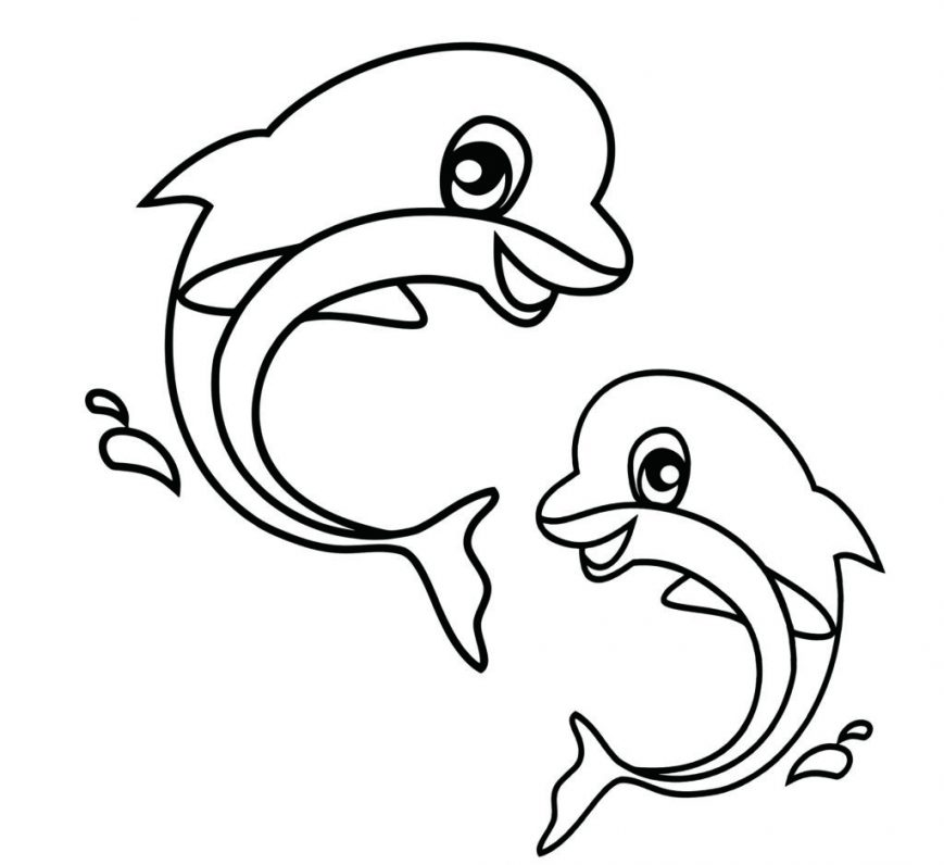869x796 Cute Ocean Animals Coloring Pages Kindergarten Animal For Toddlers