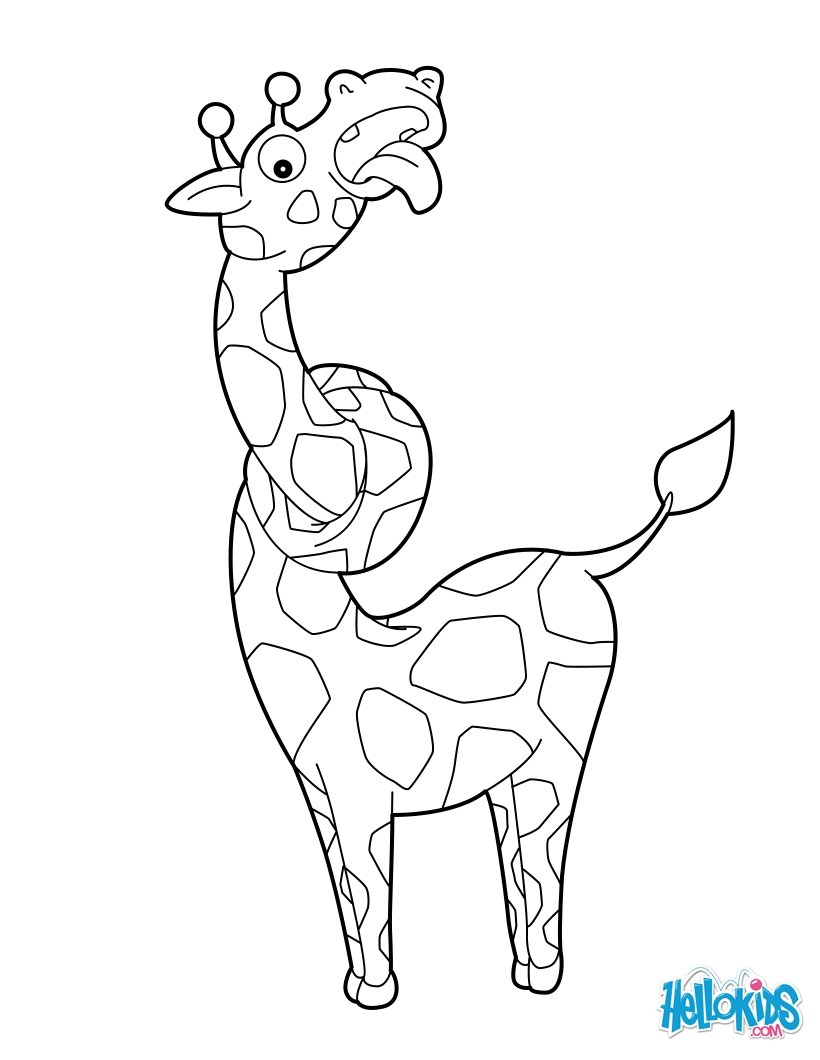 Animal Coloring Pages Giraffe