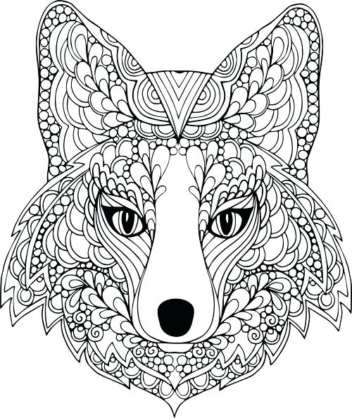 500x593 Advanced Animal Coloring Pages Advanced Animal Coloring Pages