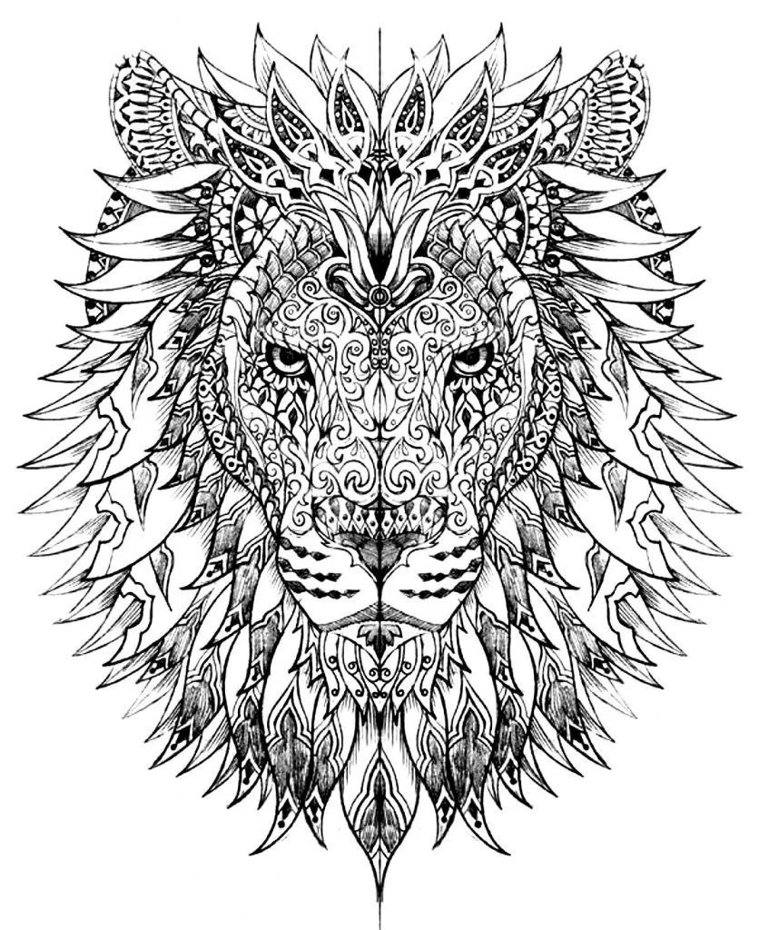 836x1024 Hard Coloring Pages For Adults Depetta Remarkable Animal