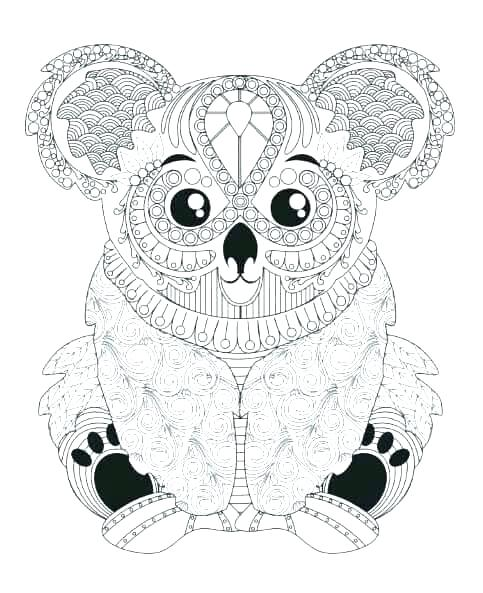 483x593 Koala Coloring Pages Hard Animal Coloring Pages Animal Coloring