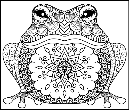 500x428 Animal Zentangle Coloring Pages Little Pagan Acorns