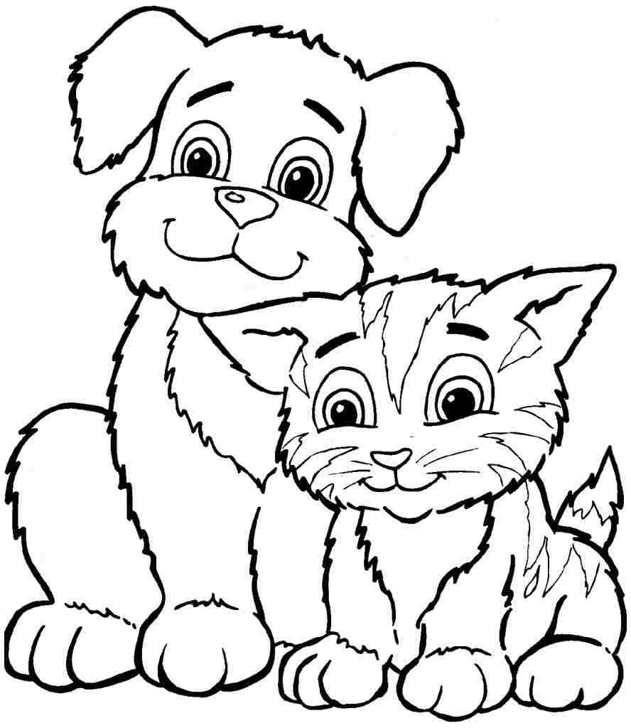 888x1024 Free Coloring Pages Animals