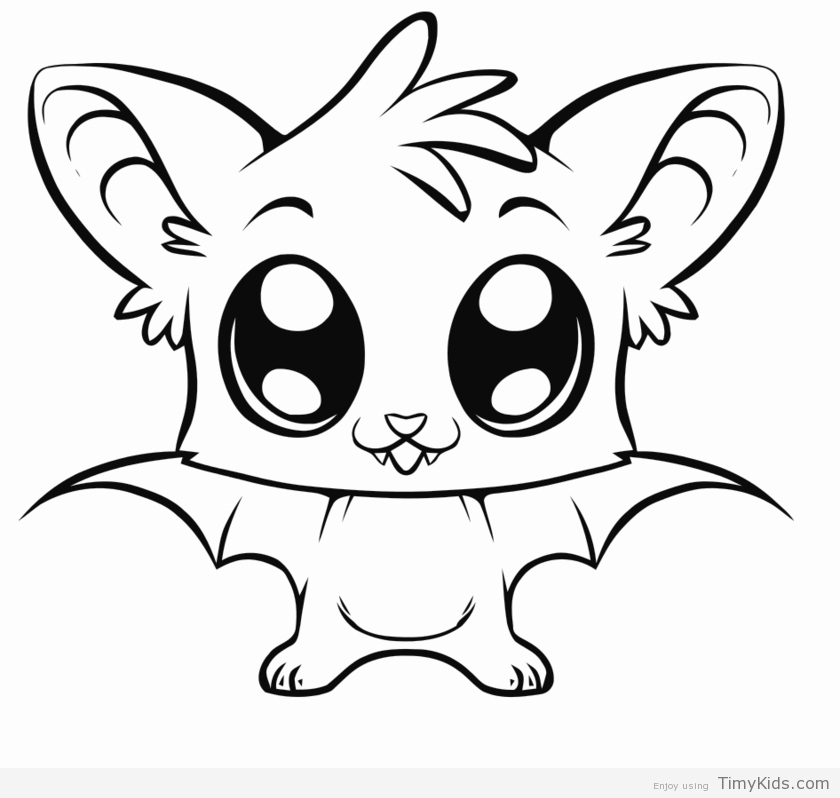 840x798 Cute Cartoon Animal Coloring Pages Timykids