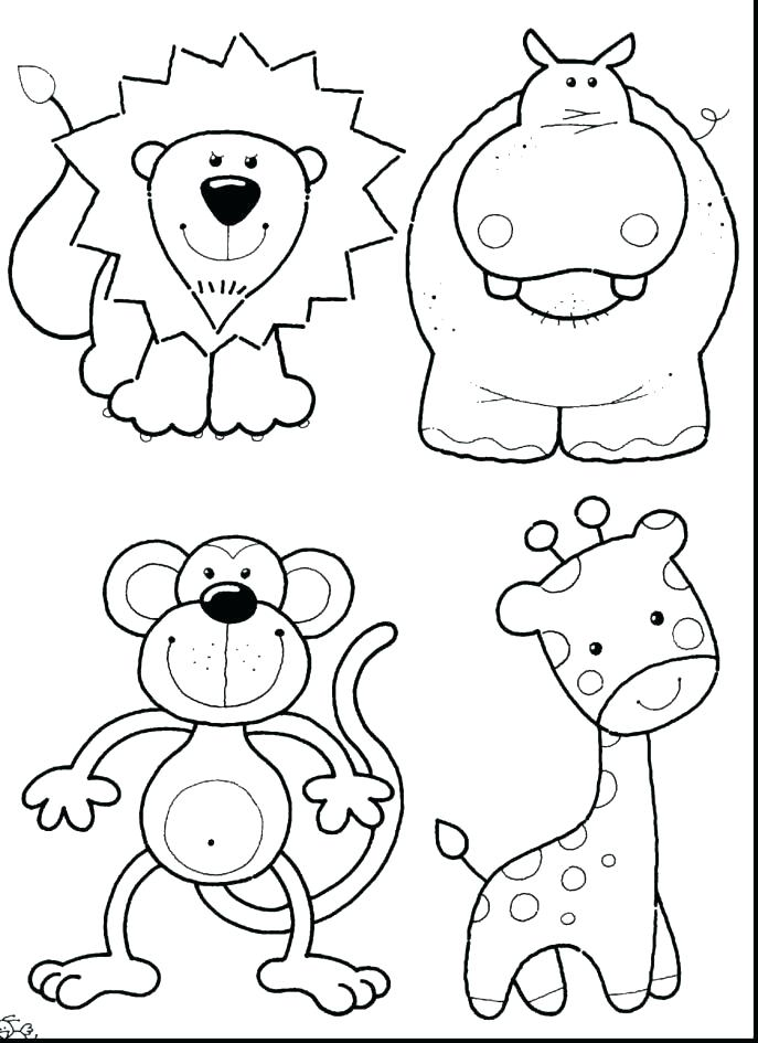 687x945 Animal Coloring Page Perfect Real Animal Coloring Pages Online