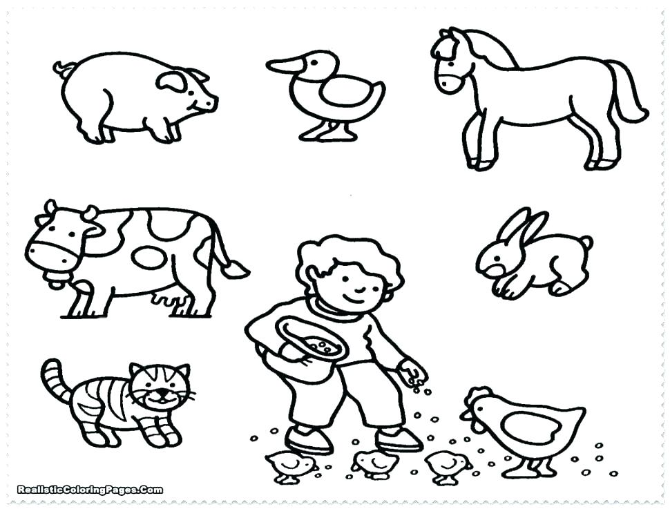 970x737 Coloring Pages For Kids Animals Farm Animal Colouring Masks Baby