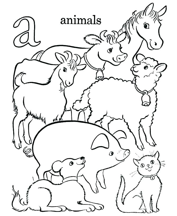 670x820 Coloring Pages For Kids Animals Farm Animals Coloring Pages