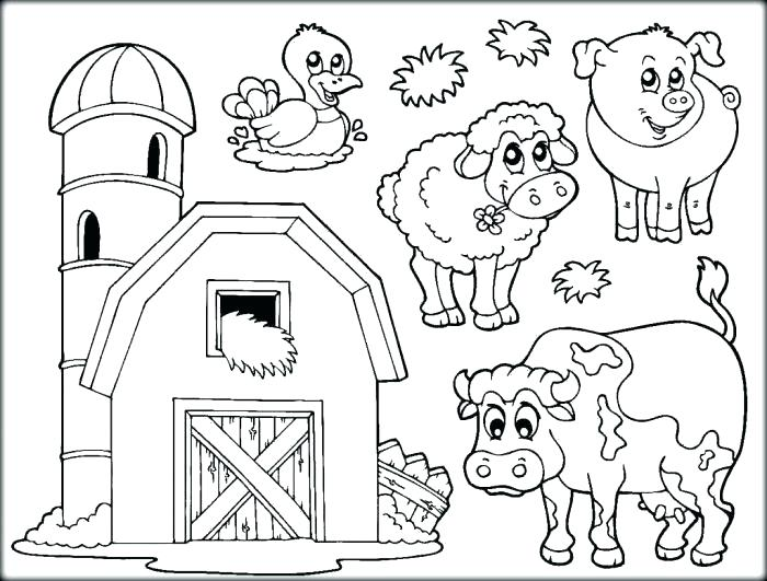 700x531 Farm Color Pages Farm Animals Coloring Pages Printable Farm Animal
