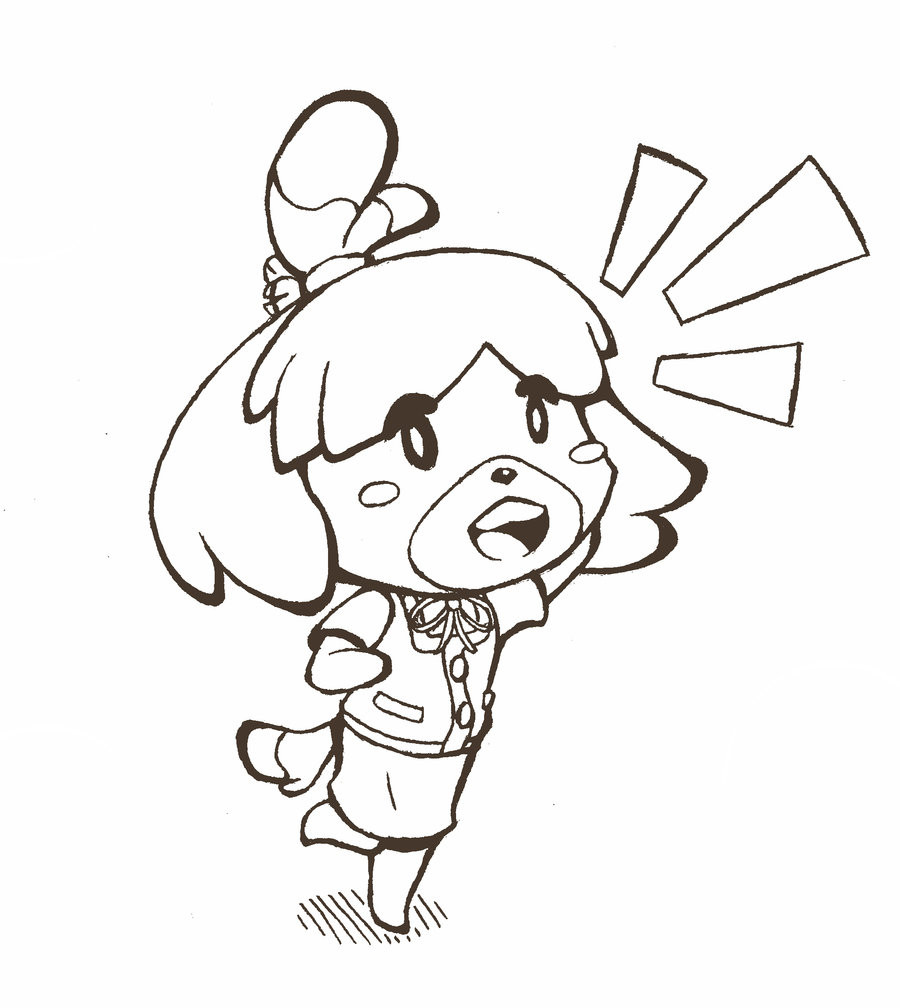 900x1008 Animal Crossing Coloring Pages With For Coloring Pages Outstanding