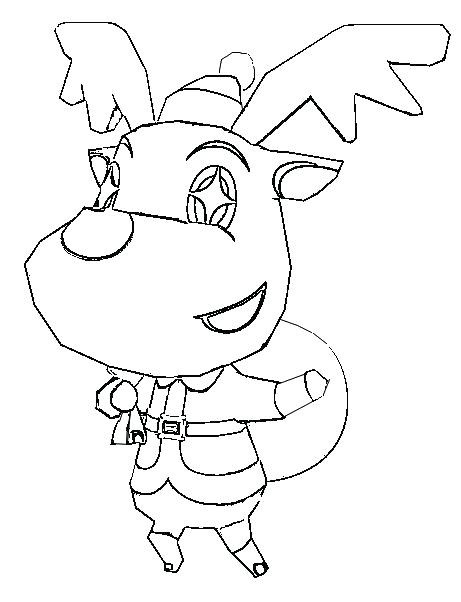461x602 Animal Crossing Coloring Page New Coloring Animal Realistic Animal
