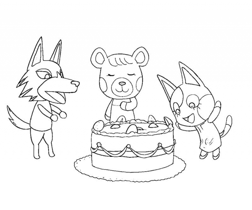 Coloriage Animal Crossing New Leaf.Animal Crossing Coloring Pages At Getdrawings Com Free For