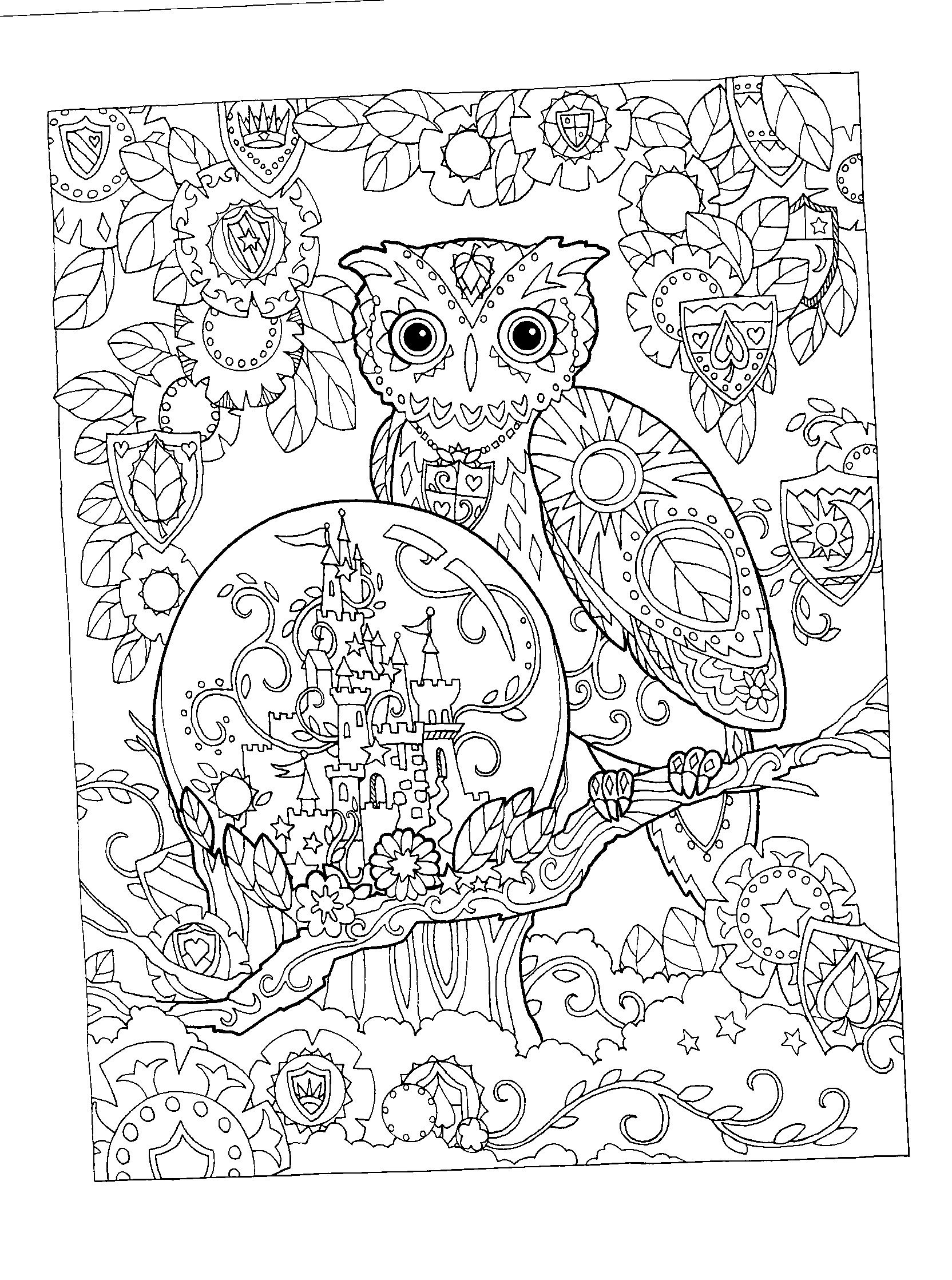 1664x2237 Adult Coloring Pages Animal Patterns Owl Gallery Coloring
