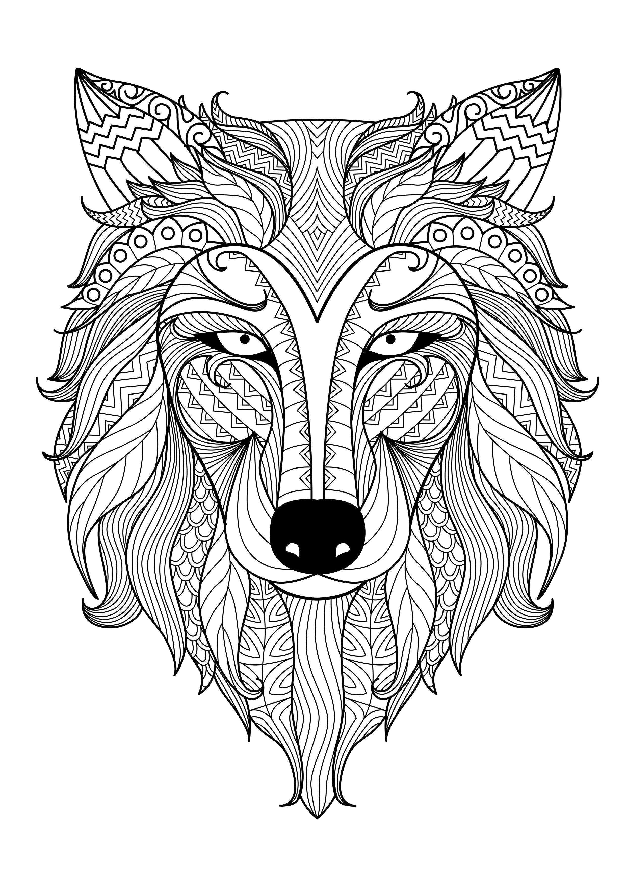 2480x3508 Adult Coloring Pages Kids Animal Patterns Download