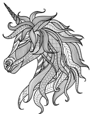 315x397 Adult Coloring Pages Unicorn Animal Patterns Drawing Board Weekly