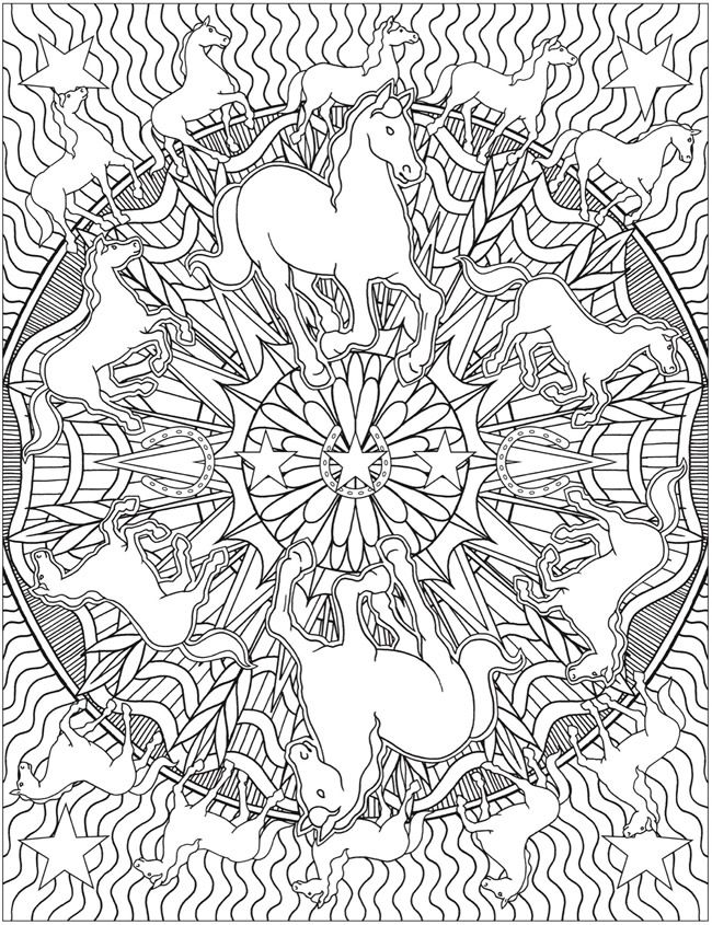 650x845 Animal Kaleidoscope Designs Coloring Book Dover Publications