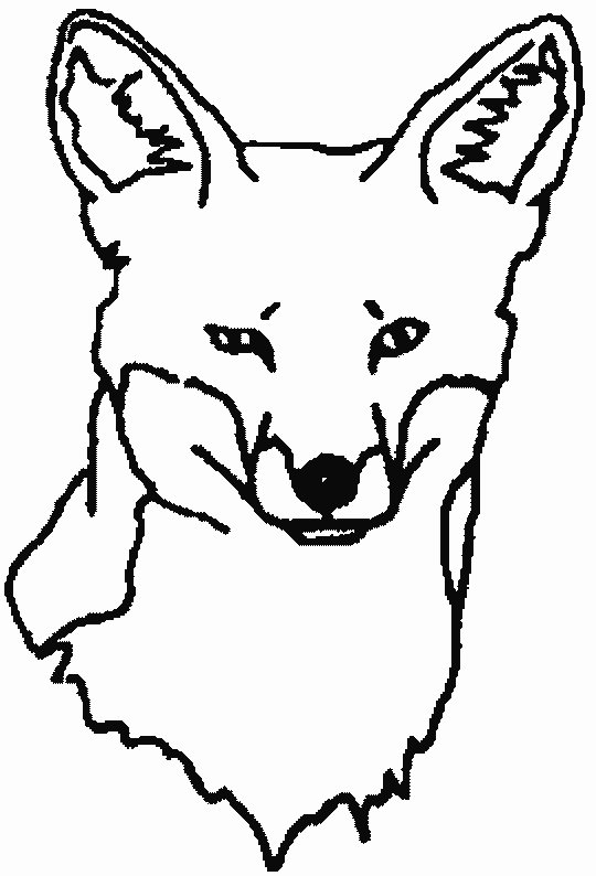 540x794 Fox Coloring Pages