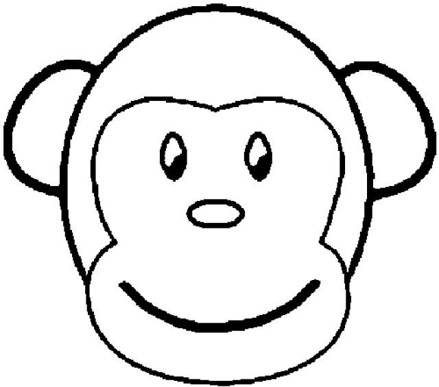 640x564 Monkey Coloring Pages Printable