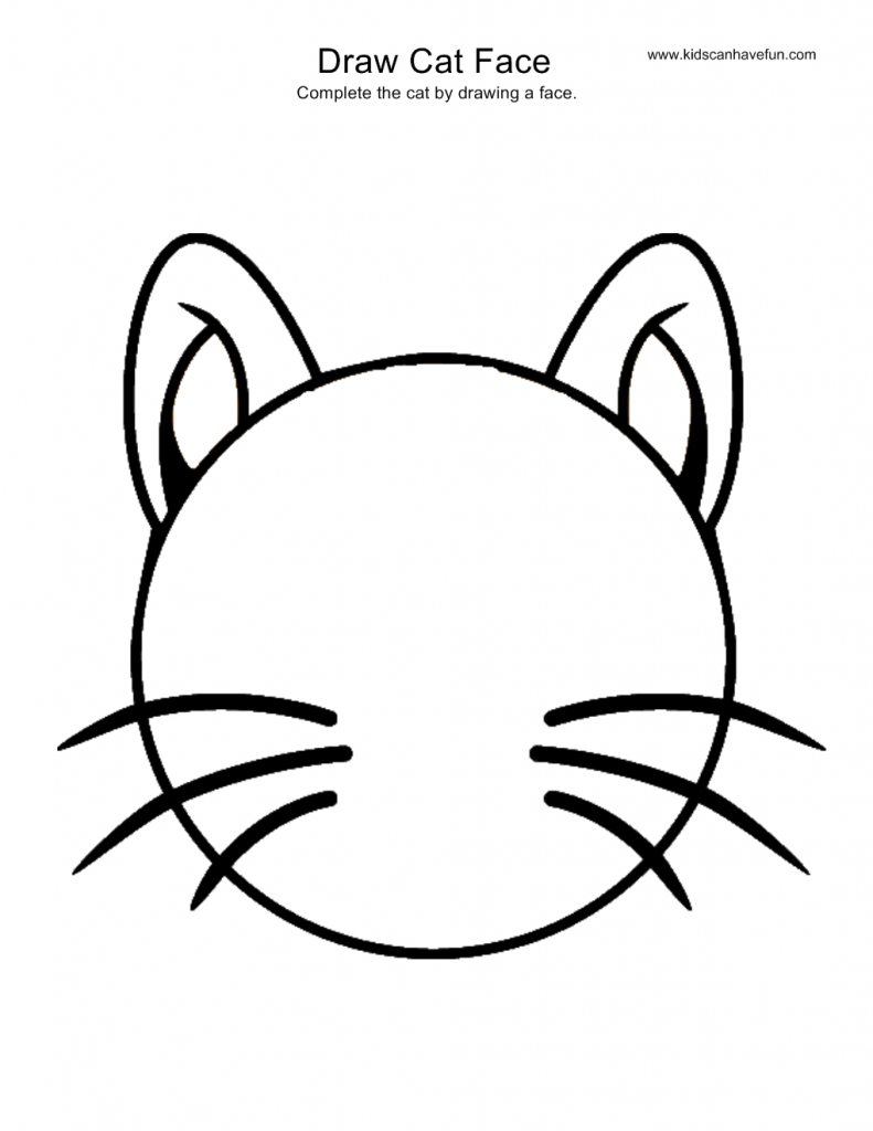 791x1024 New Cat Face Coloring Page Pages Color Bros
