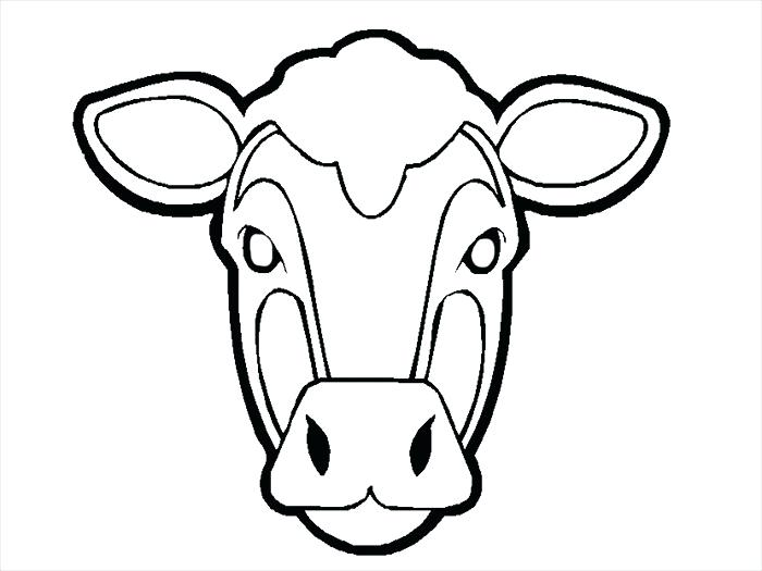 700x525 Animal Face Mask Coloring Pages Cow Template Page Free Download
