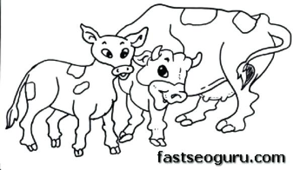582x338 Cow Coloring Page Coloring Page Cow Coloring Page Cow Cow Coloring