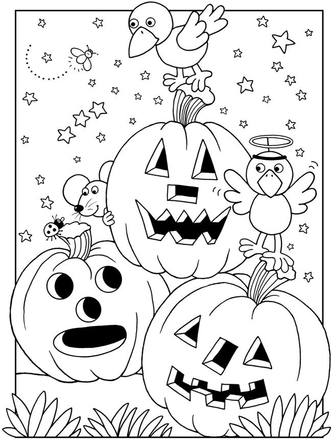 Animal Halloween Coloring Pages
