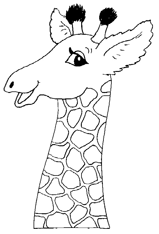 Animal Head Coloring Pages