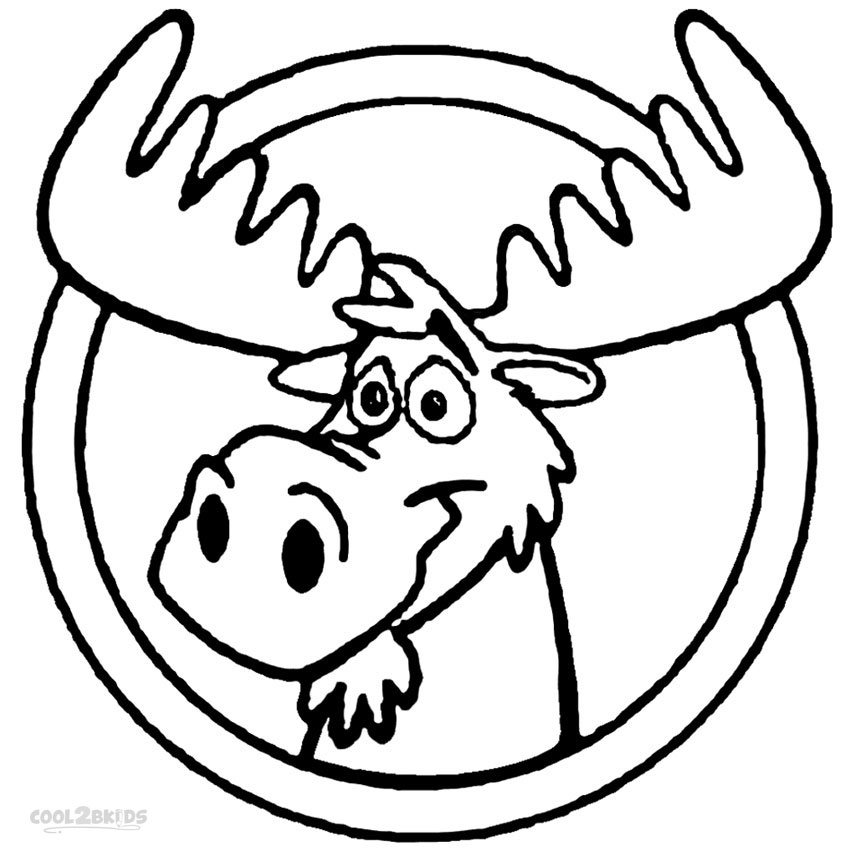 850x850 Printable Moose Coloring Pages For Kids