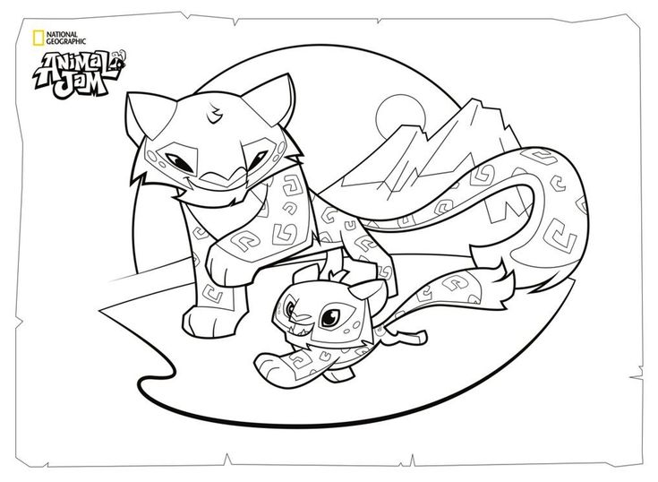 735x538 Best Animal Jam Coloring And Activity Pages Images