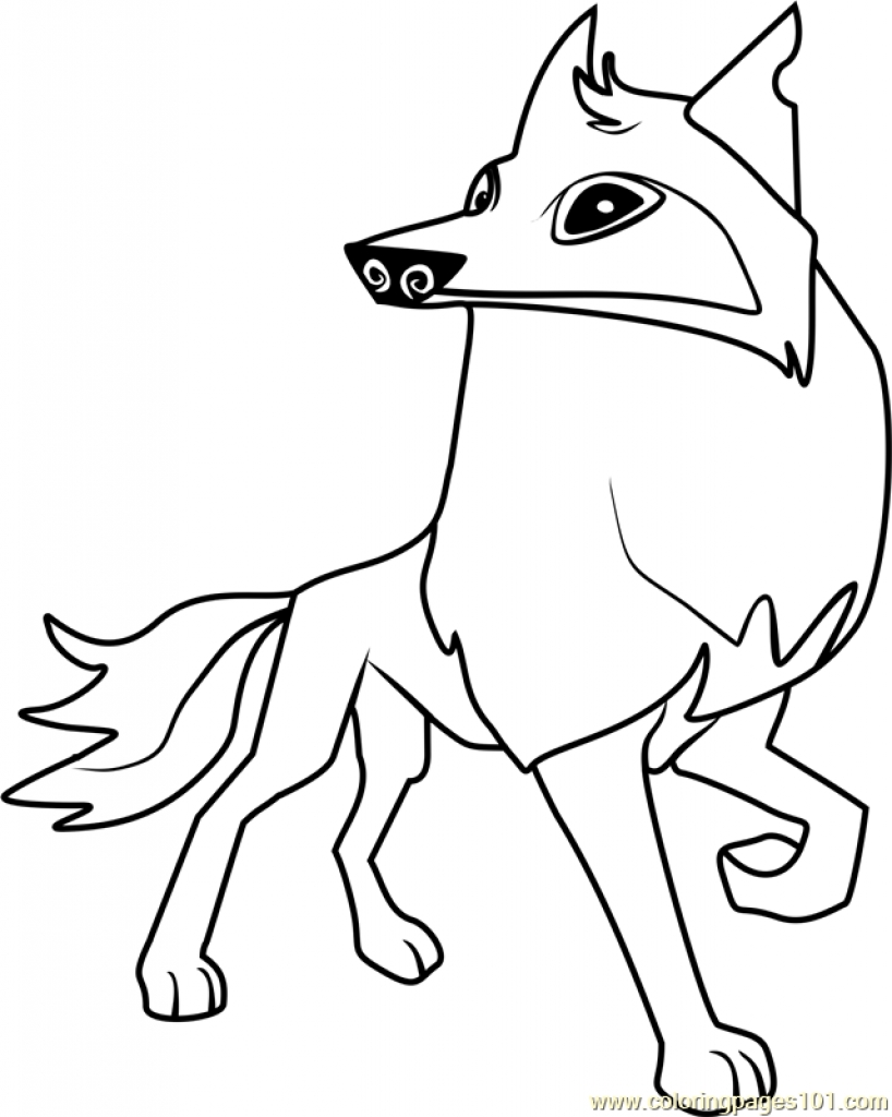 818x1024 Animal Jam Coloring Pages Arctic Wolf Download Best Image To Color