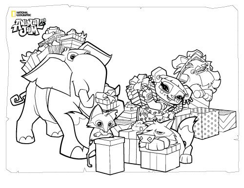 500x386 Animal Jam Coloring Animals With Presents