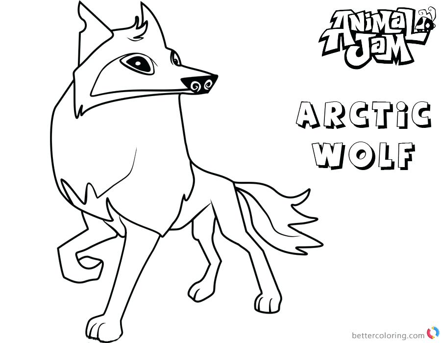 900x700 Animal Jam Coloring Pages Wolf Arctic Free Printable