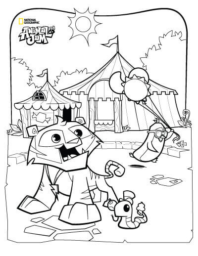 400x518 Free Printable Animal Jam Coloring Pages