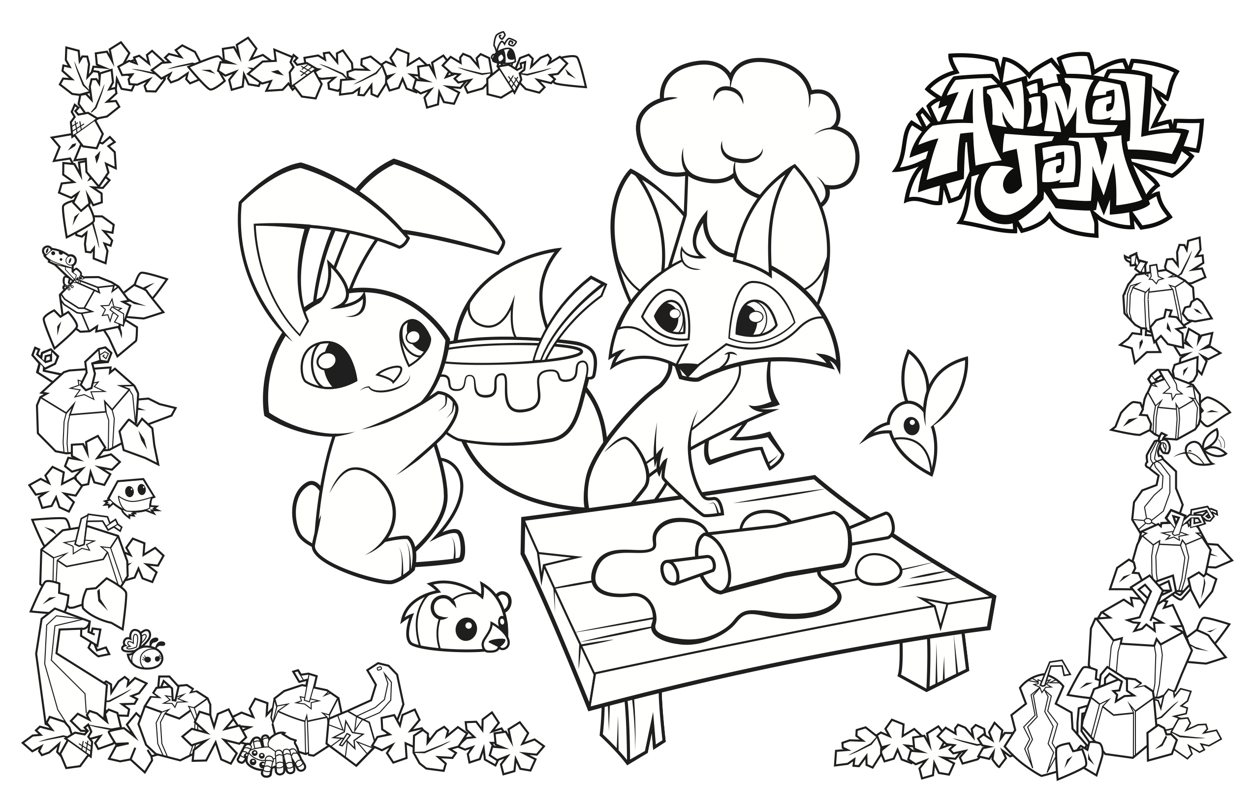 Animal Jam Coloring Pages Arctic Wolf at GetDrawings ...