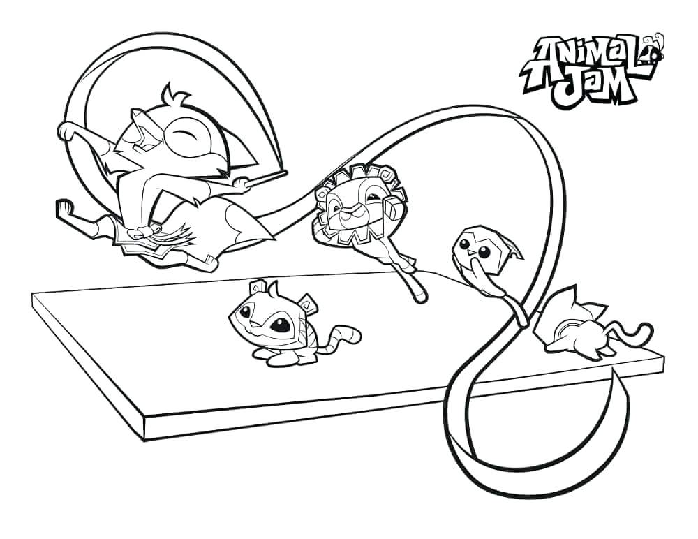 1000x772 Good Animal Jam Coloring Pages Or Animal Jam Coloring Pages