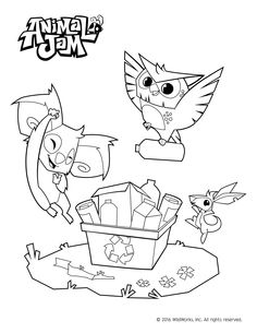 236x305 Animal Jam Jamaalidays Coloring Page Animal Jam Birthday