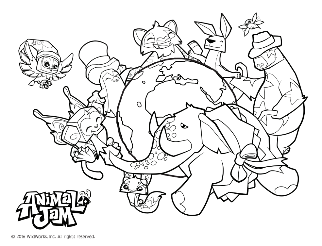 1024x785 Creative Decoration Animal Jam Coloring Pages Animal Jam Coloring