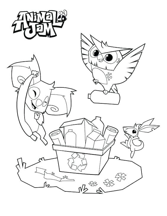 564x729 Animal Jam Coloring Pages Fox Impressive Design Animal Jam