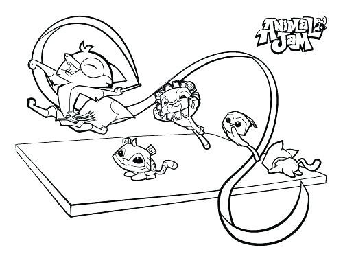 500x386 Animal Jam Coloring Pages Arctic Wolf Animal Jam Coloring Pages