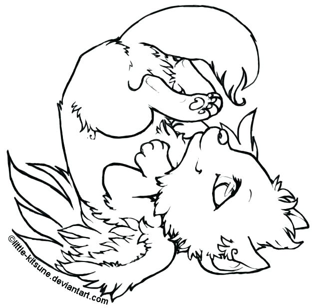 635x616 Coloring Pages Wolf Coloring Page Of A Wolf Winged Wolf Cub