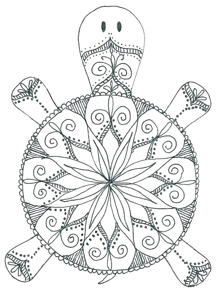 728x1024 Animal Mandala Coloring Sheets Easy Mandalas To Color Coloring