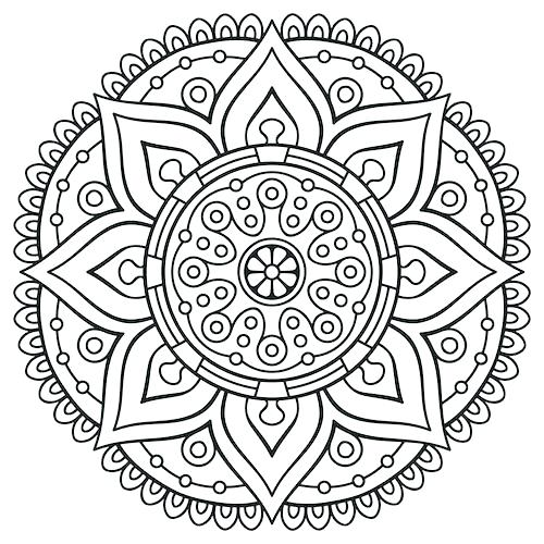500x500 Free Mandala Coloring Pages Print Abstract Coloring Pages