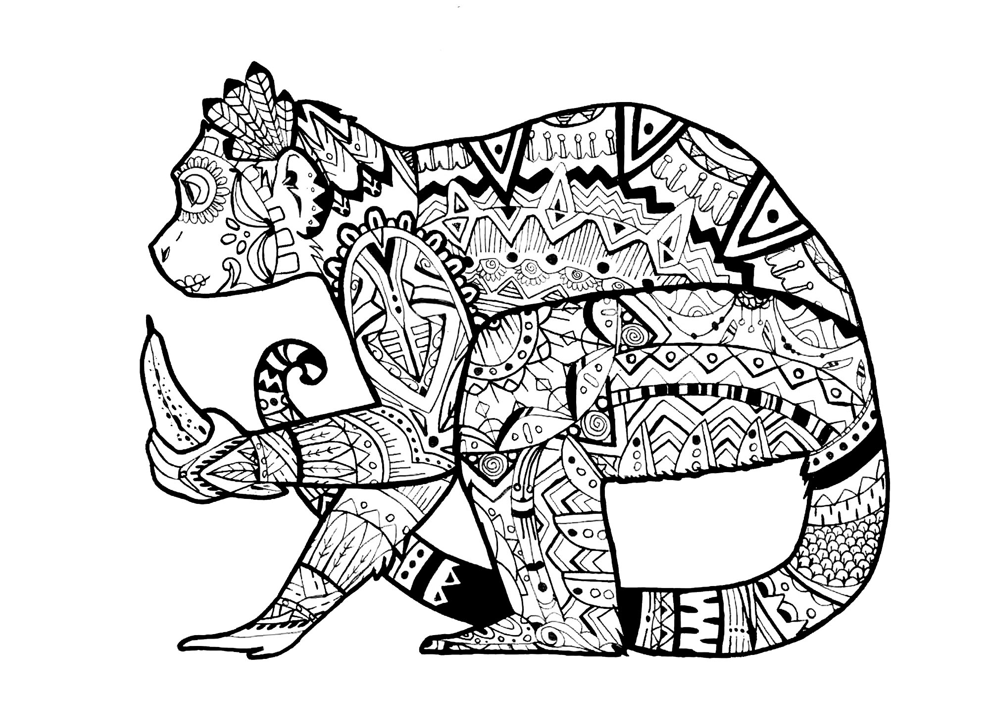 Animal Mandala Coloring Pages For Adults at GetDrawings.com   Free ...