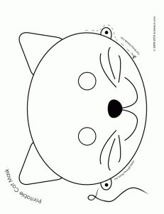 231x300 Animal Masks Coloring Pages Projects To Try Animal