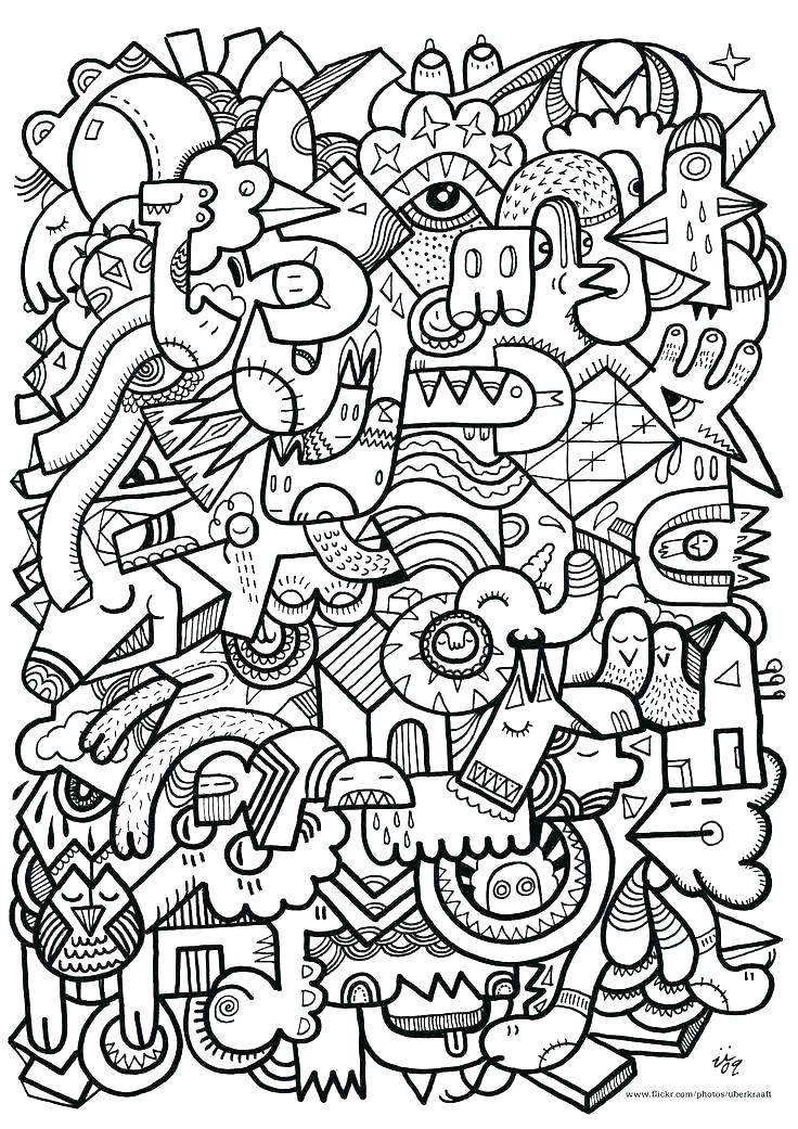 Animal Mosaic Coloring Pages