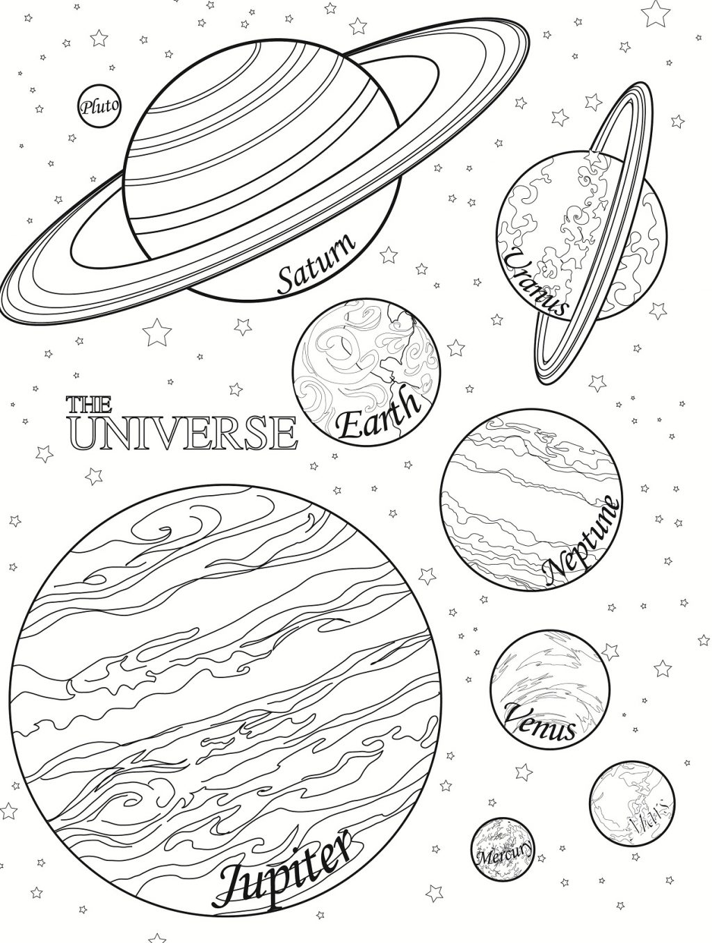 1024x1356 Planet Coloring Sheets Printable Pages With Thets Pluto To Print