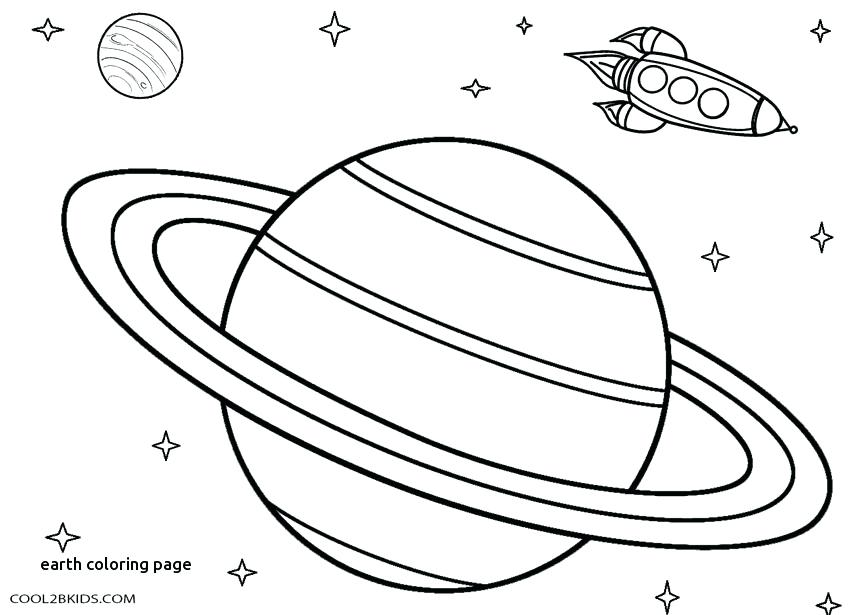 850x615 Planet Earth Coloring Page Earth Day For Earth Coloring Page